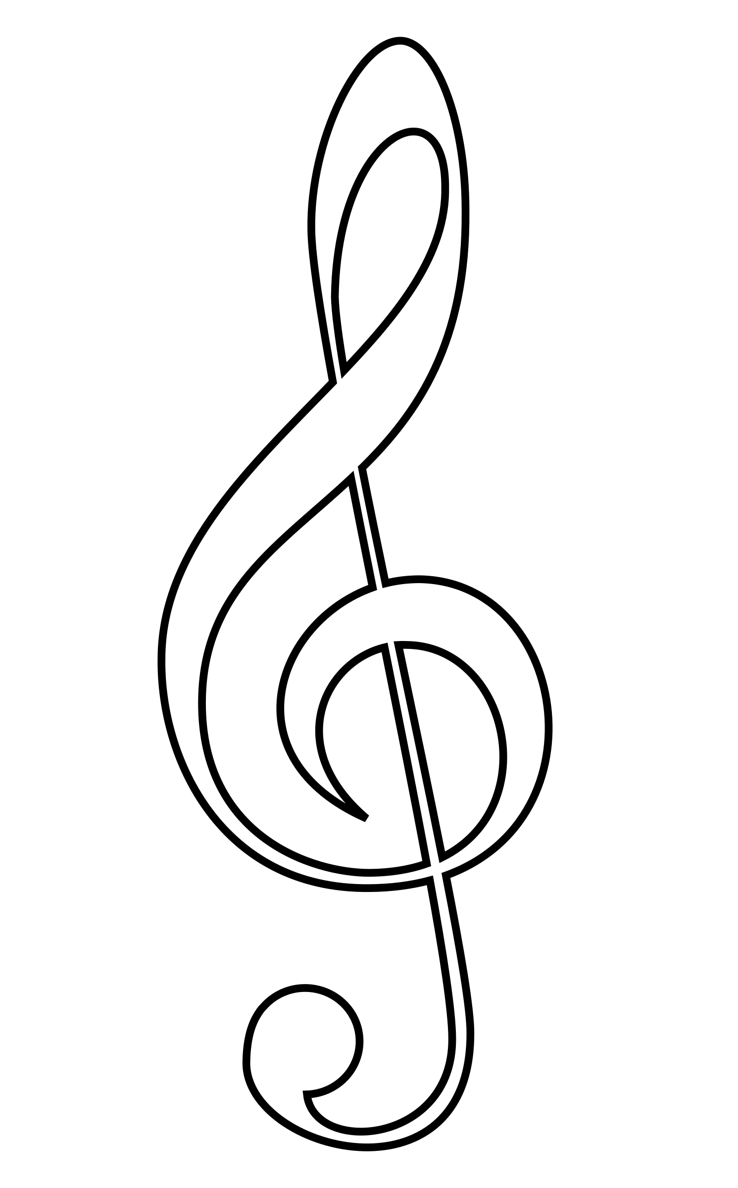 vector transparent download Treble clef clipart. Big image png