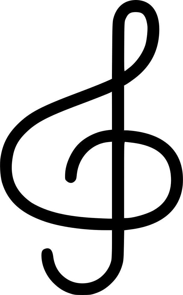 jpg free stock Treble clef clipart semi. Svg png icon free