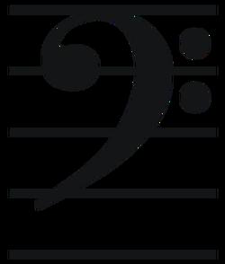 image black and white Topic the staff clefs. Treble clef clipart semi
