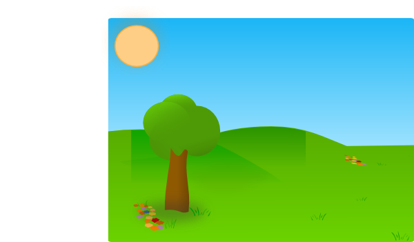 clipart royalty free Trees Sky Grass Clip Art at Clker
