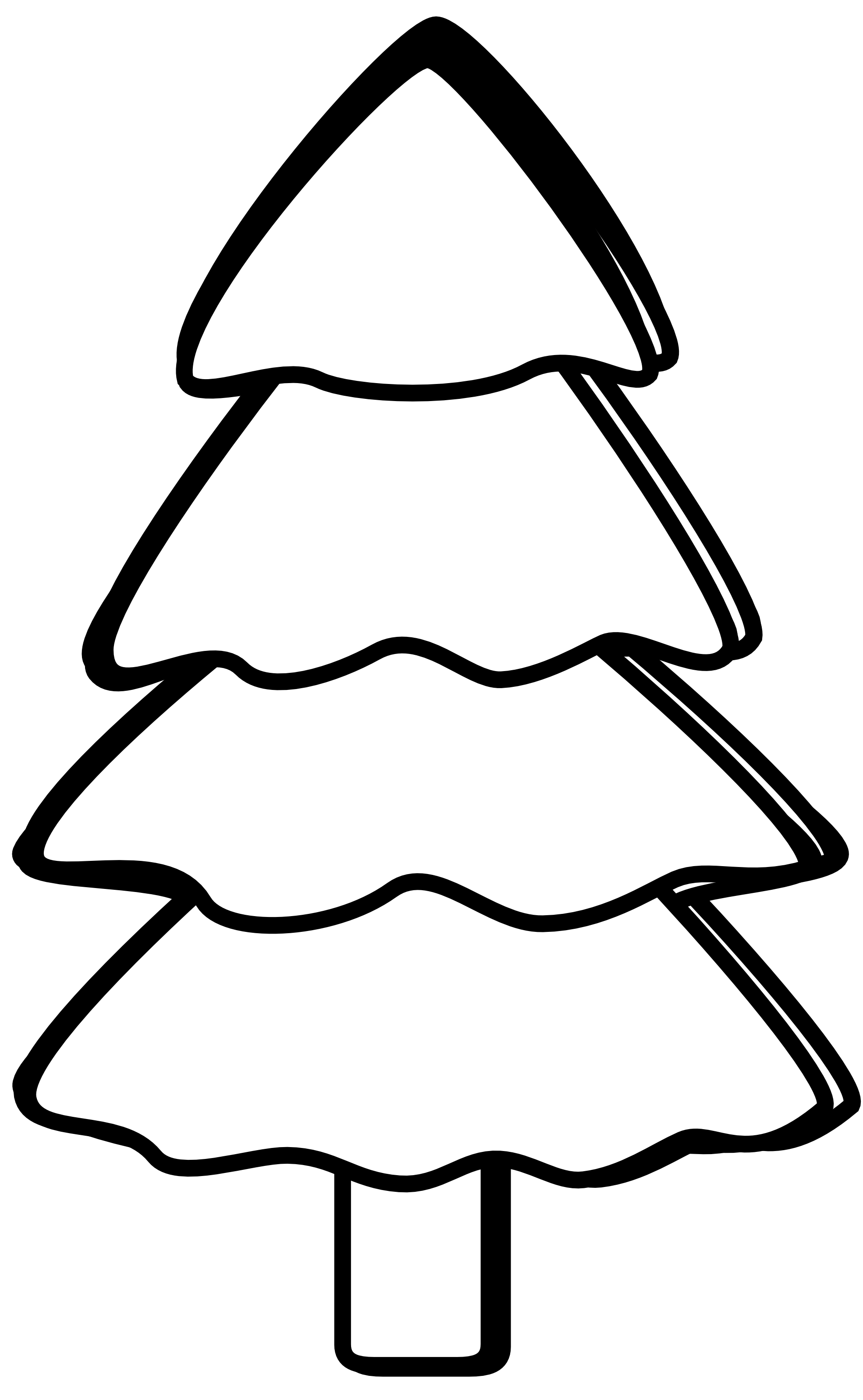 clipart stock Christmas tree panda free. Forest trees clipart black and white