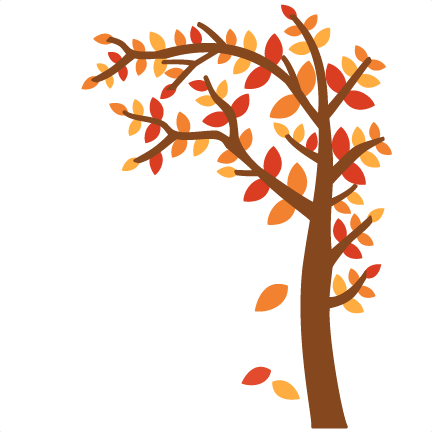 svg transparent library Tree svg cutting file. Free fall borders clipart.