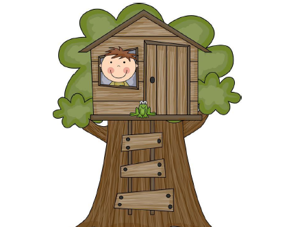 image stock Magic station . Tree house clipart.