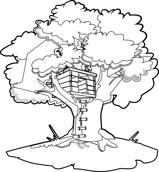 vector royalty free Magical tree at getdrawings. Treehouse drawing