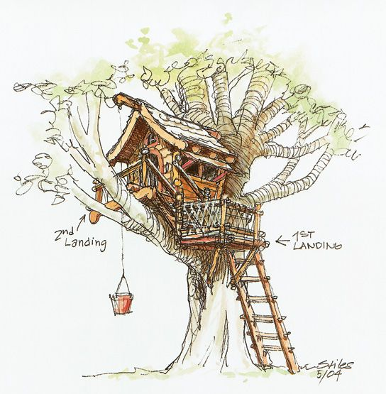 transparent stock A backyard for the. Treehouse drawing