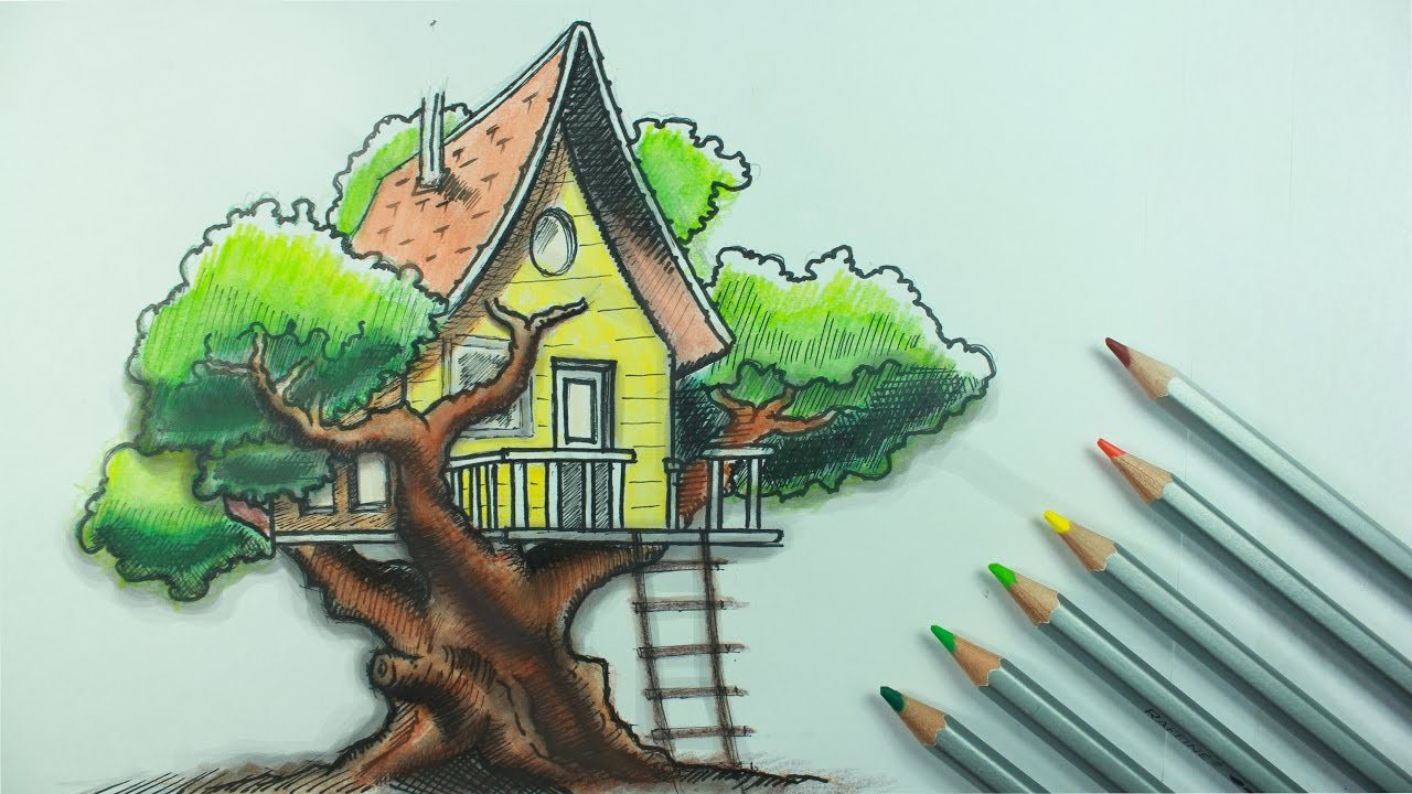 transparent download A tree house time. Treehouse drawing