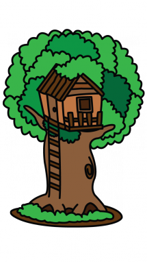 banner library stock How to draw a. Treehouse drawing