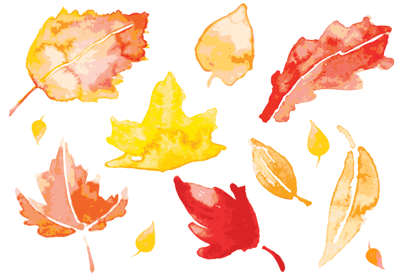 image download Autumn Leaves Watercolor painting Leaf