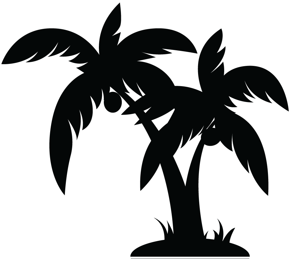 banner black and white Tree free images at. Palm trees clipart black and white
