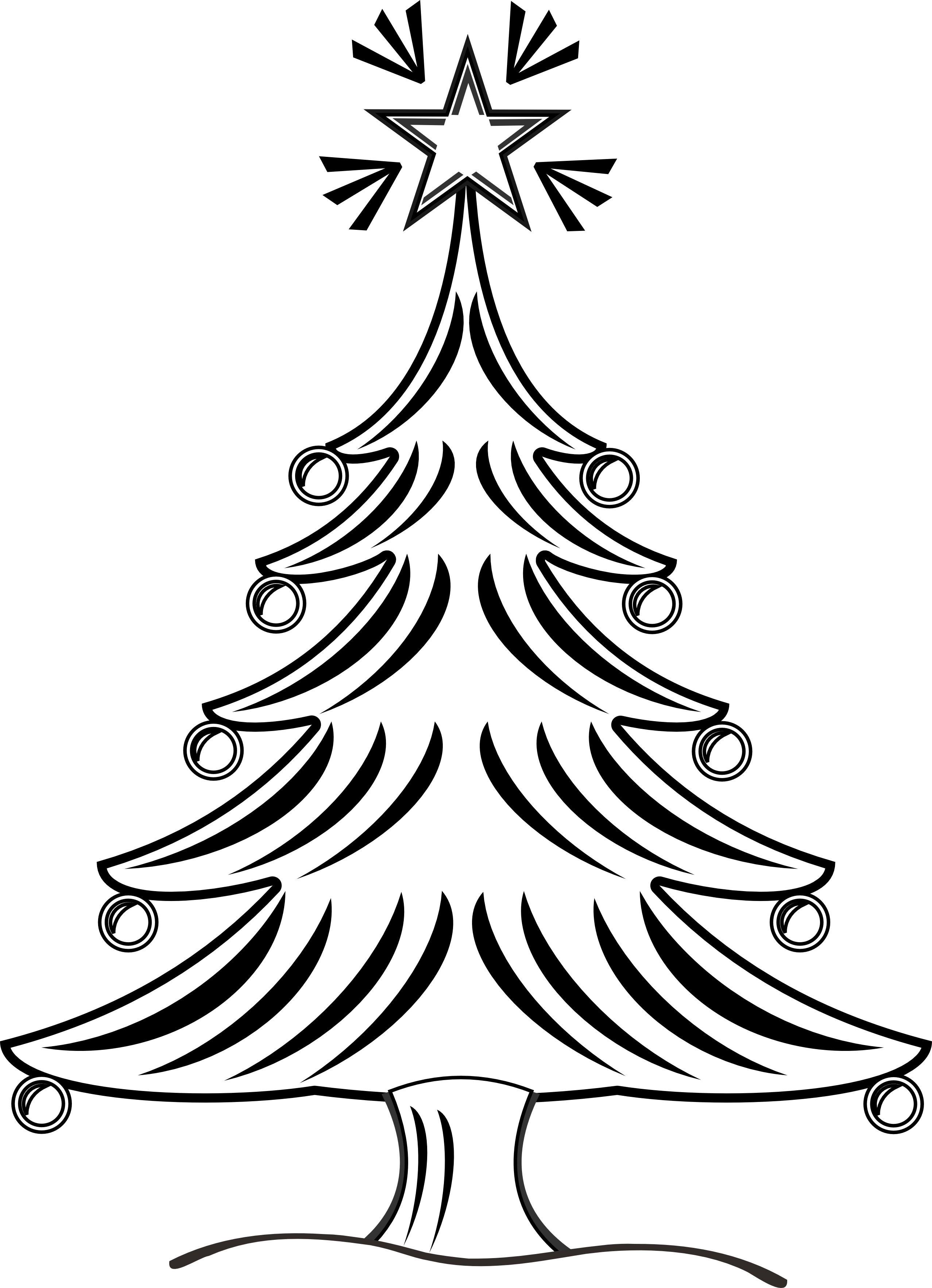 jpg black and white library Trees black and white clipart. Tree drawing at getdrawings