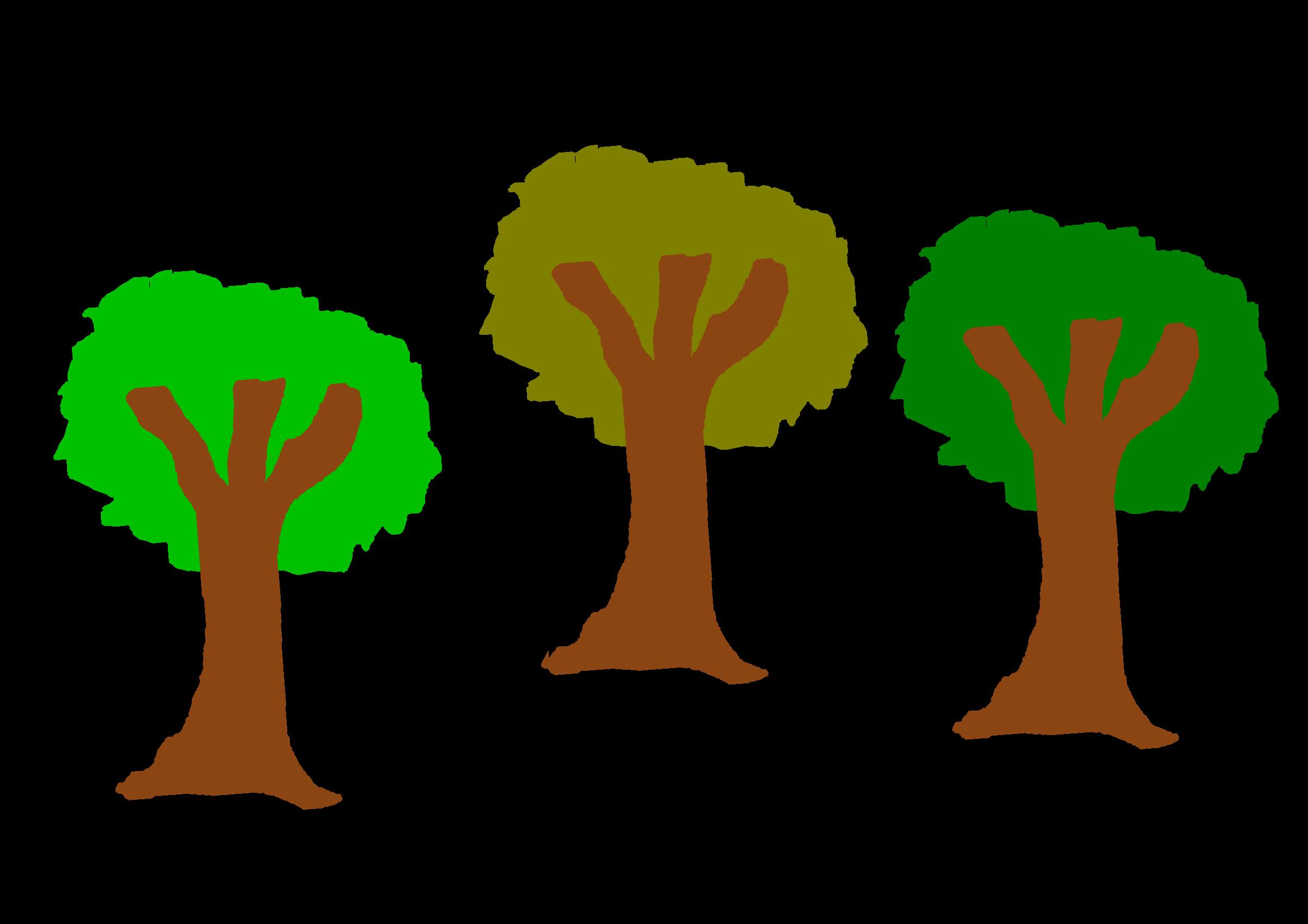 jpg free stock Trees clipart. The three big image