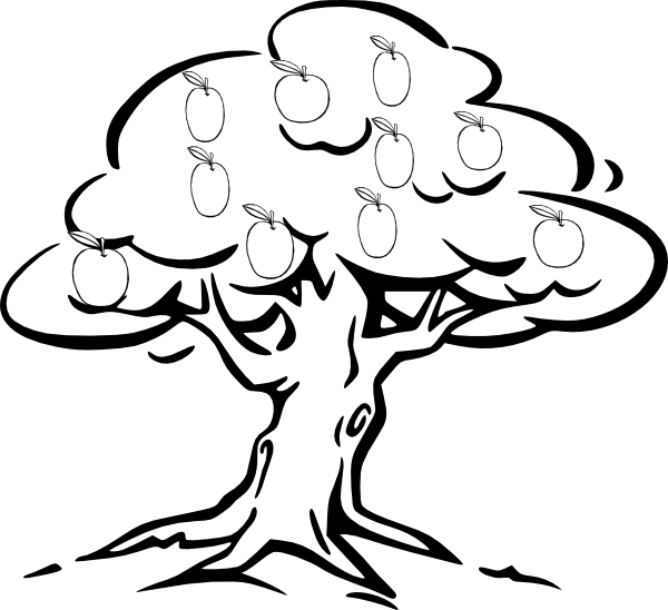 clip art black and white download  collection of mango. Trees clipart black and white