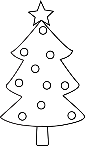 vector free Clip Art Christmas Tree Outline