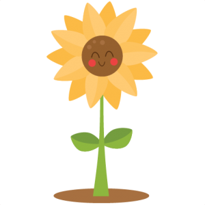 png freeuse download Cute miss kate cuttables. Trees clipart sunflower