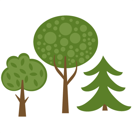 png stock Set of cutting files. Trees svg