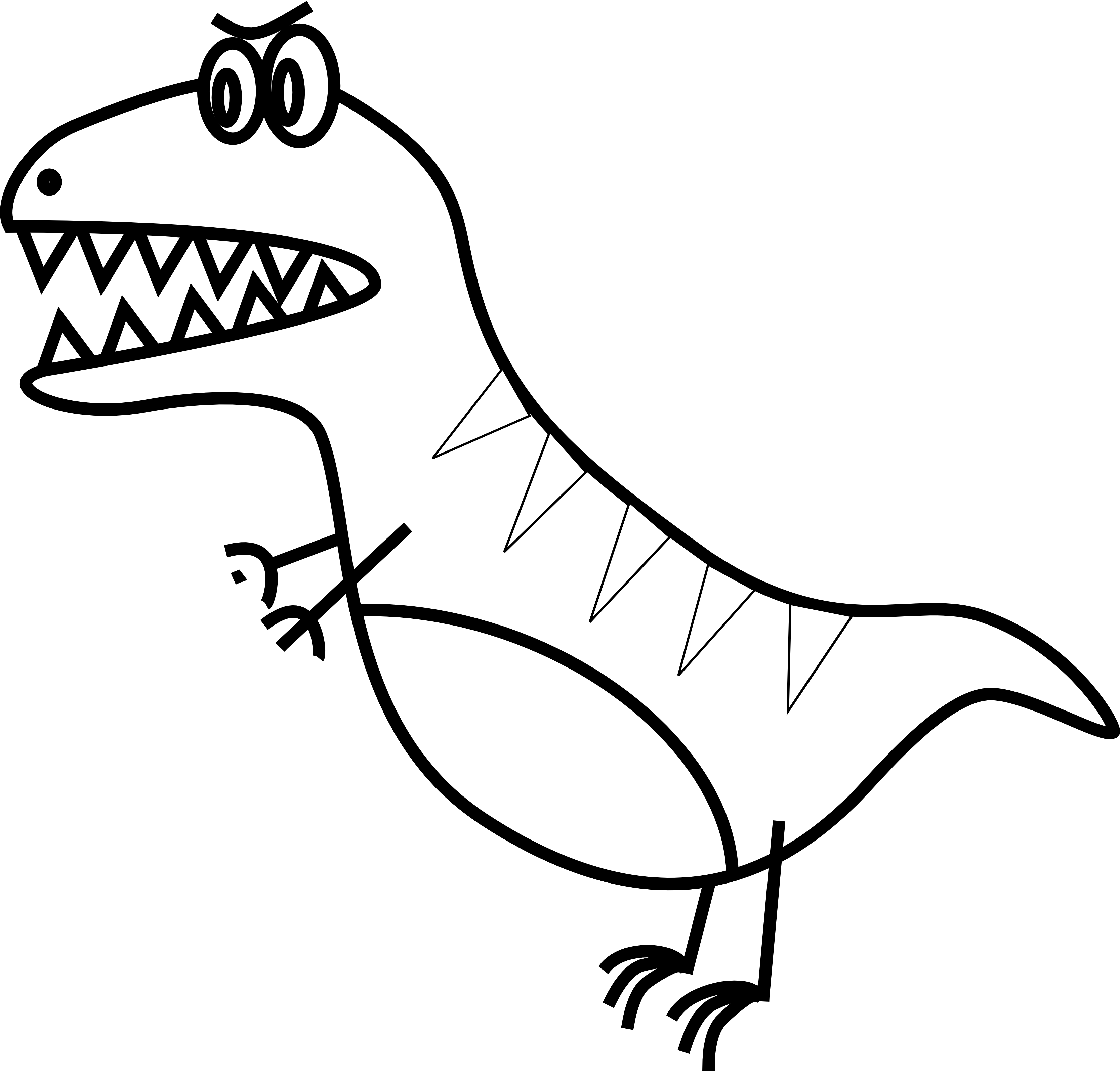 picture library stock simple t rex black white