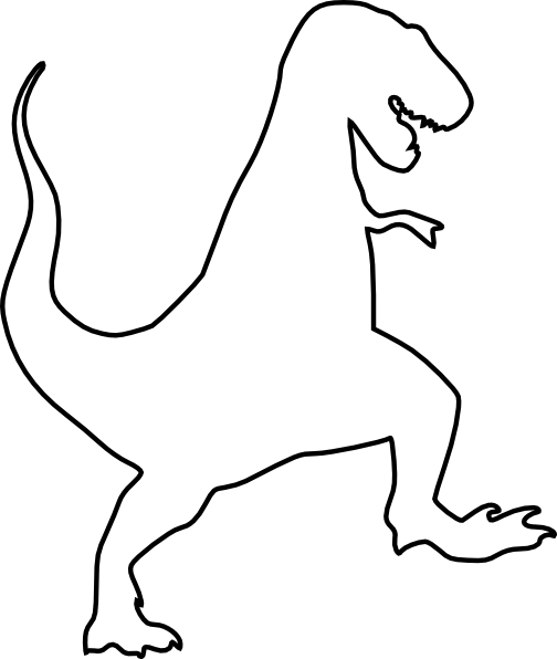 vector freeuse library t rex clipart silhouette #50931326