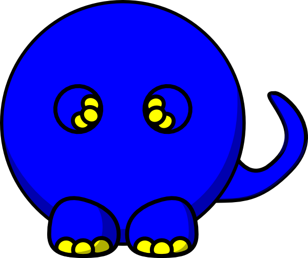 banner library download Blue T Rex Body Clip Art at Clker