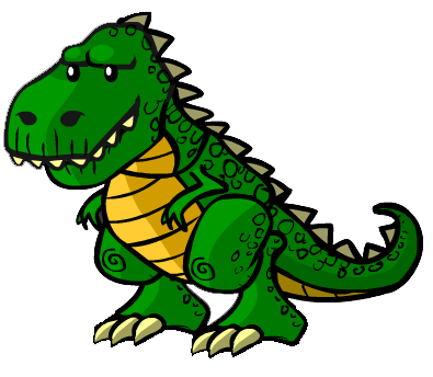 svg free stock trex clipart green #85139944