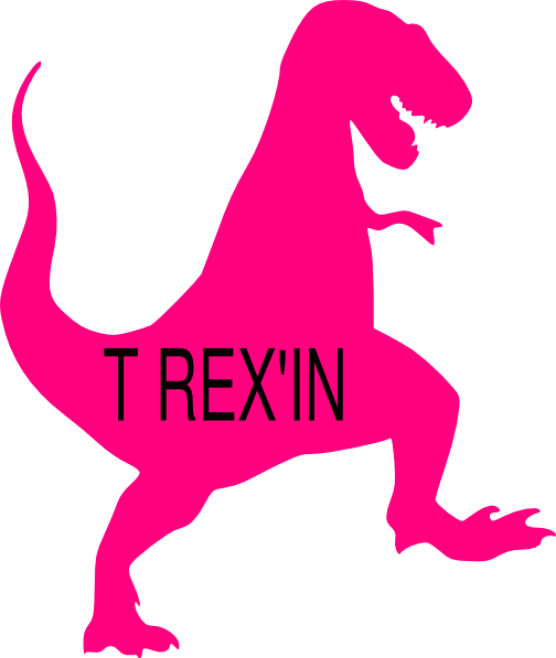 clip black and white stock Clip art at clker. Trex clipart pink