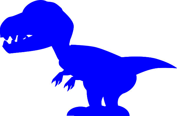 image black and white library Blue Trex Clip Art at Clker