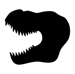 clipart royalty free download T Rex Head Silhouette at GetDrawings