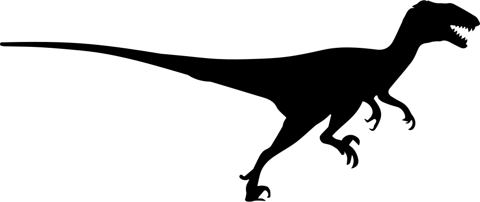 graphic freeuse Velociraptor Silhouette at GetDrawings