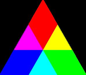 jpg Rainbow . Triangle clipart
