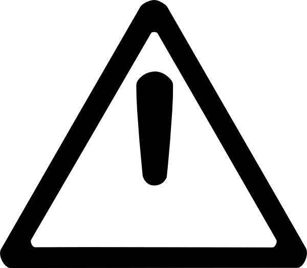 vector freeuse stock Triangle black and white clipart. Caution clip art at