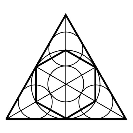 library Sacred geometry shapes in. Triangles vector