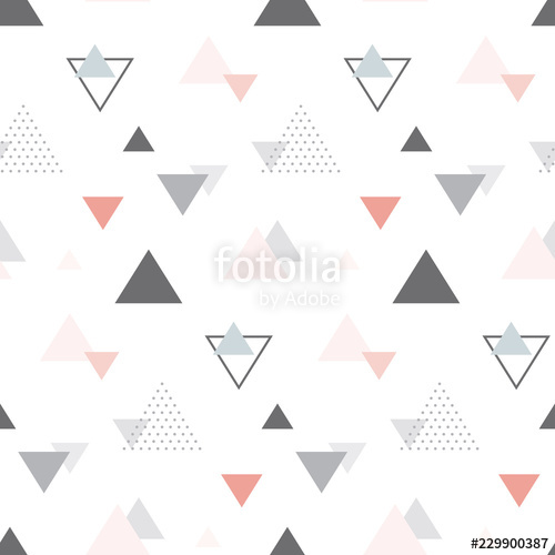 picture library download Triangles vector. Abstract geometric scandinavian seamless