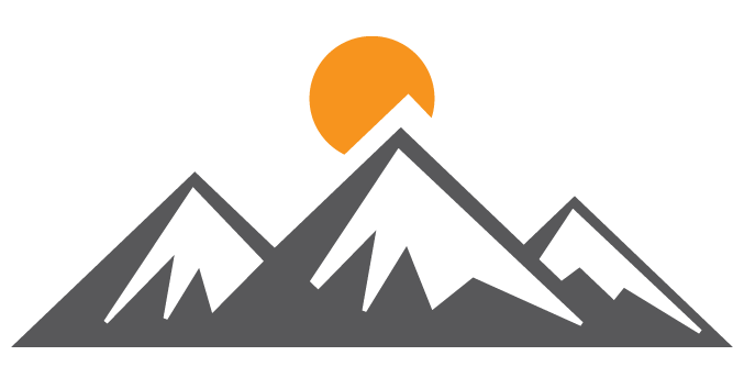 picture royalty free library Vector emblem mountain. Mountains mile high rides