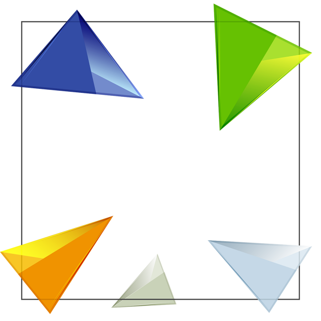 svg freeuse download Triangles vector.  d triangle geometric