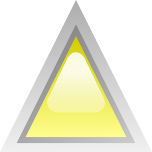 royalty free download Led yellow clip art. Triangular clipart