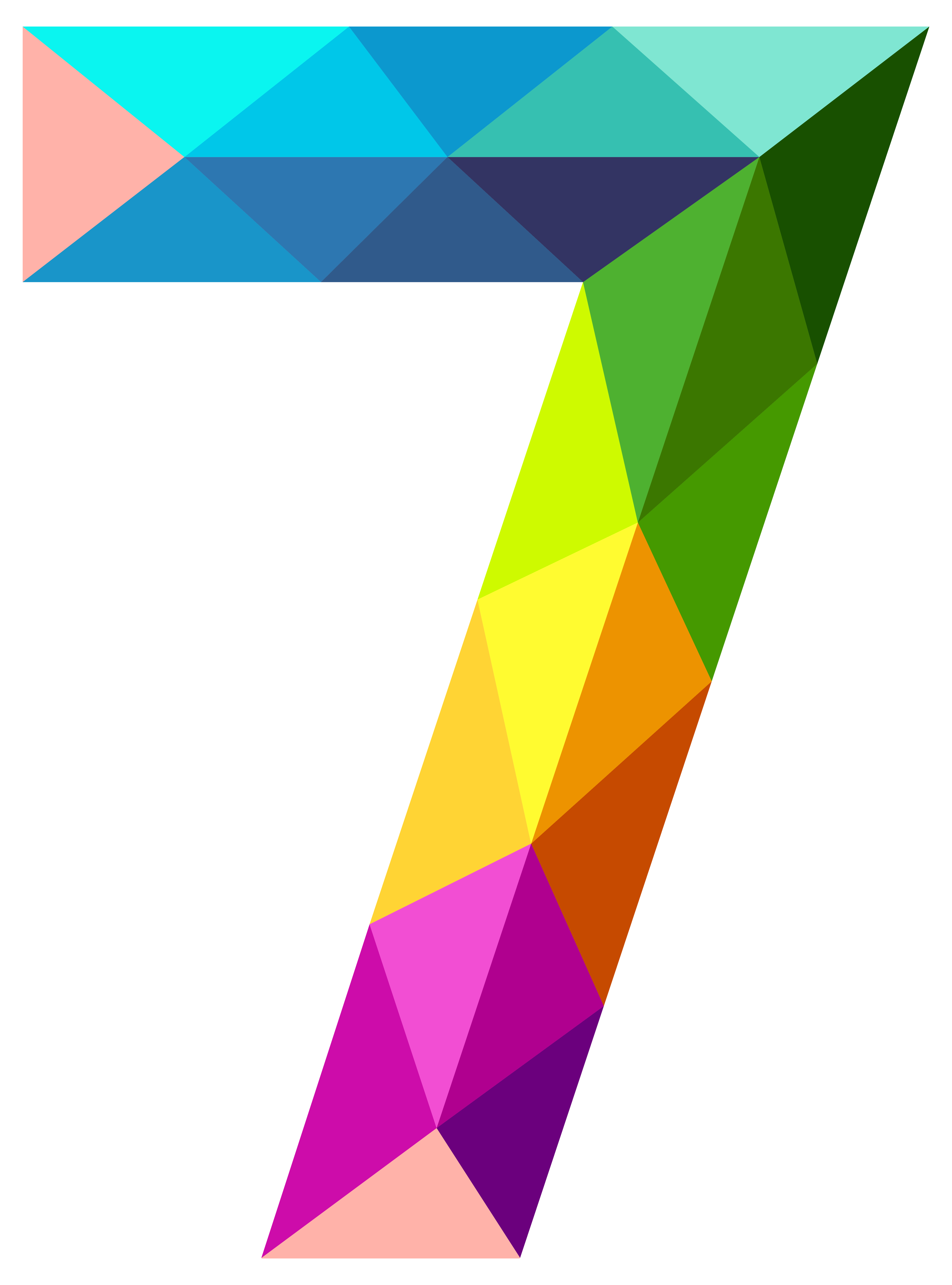 picture download Colourful Triangles Number Seven PNG Clipart Image
