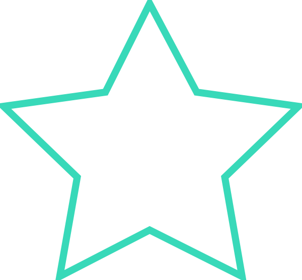 vector black and white library Thick Turquoise Star Clip Art at Clker