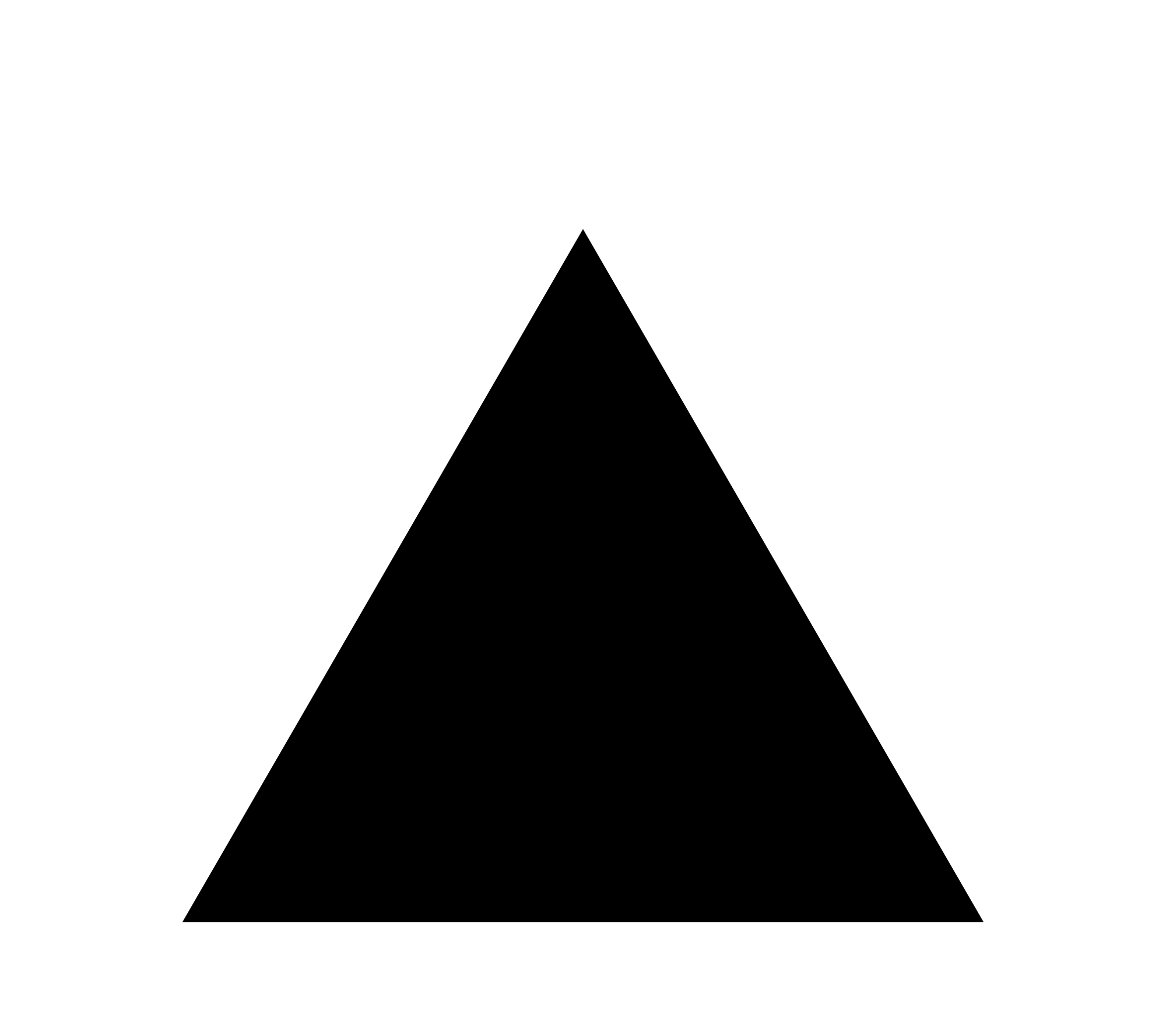 freeuse library Black triangle clipart. File with thick white