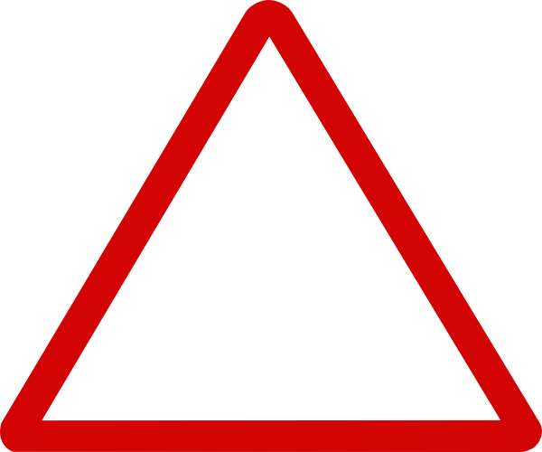 clip art freeuse Thin Red Triangular Sign Clip Art at Clker