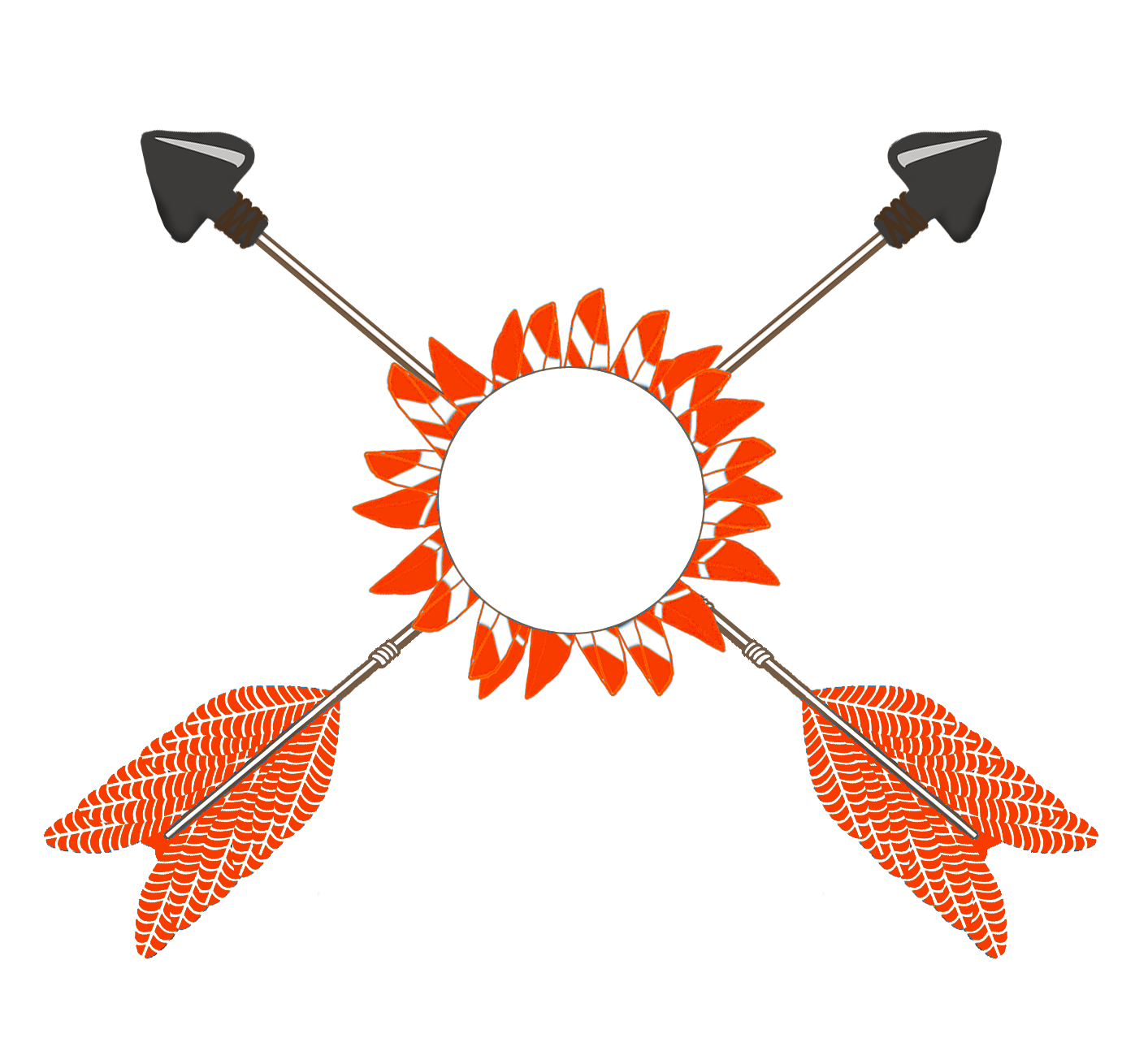 clipart black and white stock Tribal arrow clipart. All kinds of orange.
