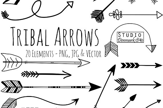 clip black and white stock Tribal arrow clipart. And vectors .