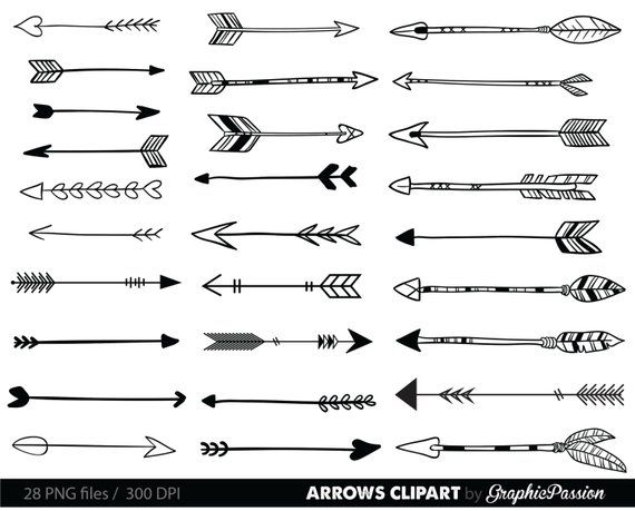 jpg black and white download Tribal arrow clipart black and white. Arrows clip art archery