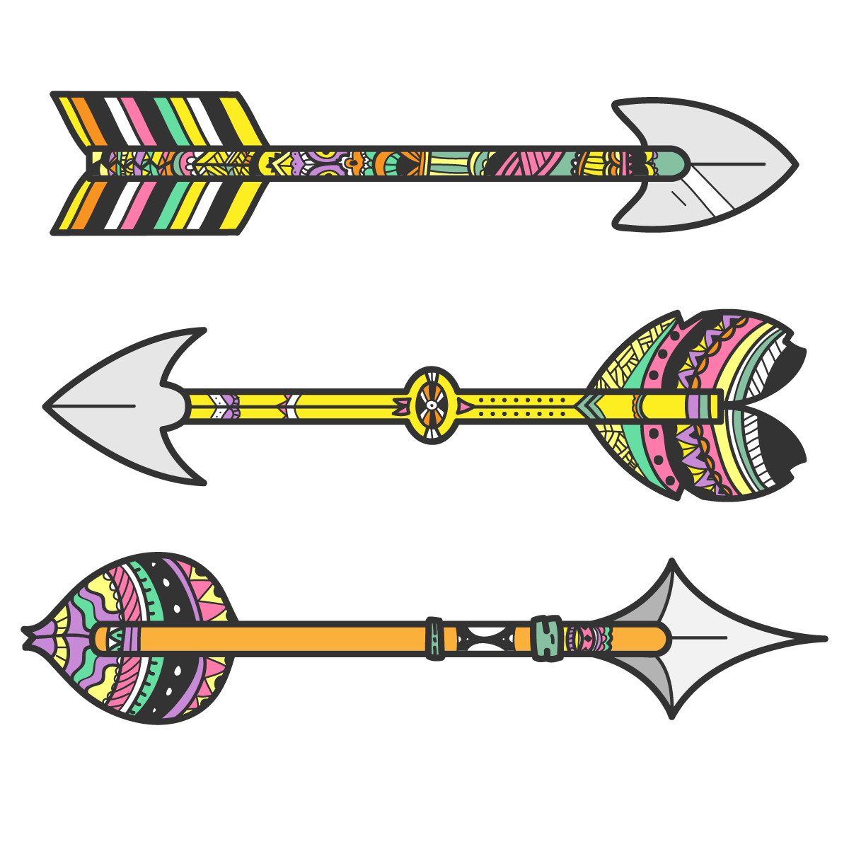 svg library Tribal arrow clipart free. Bow and tribe clip