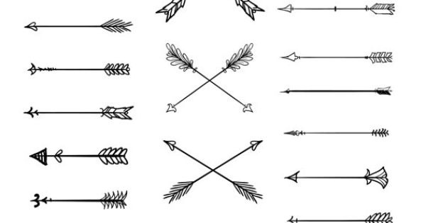 clip art library stock Tribal arrow clipart vector. Doodle arrows by blackca