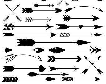 clipart freeuse library Arrows clip art digital. Tribal arrow clipart vector