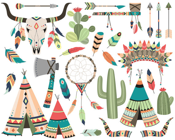 banner freeuse download Tribal clipart. Set vector png jpg