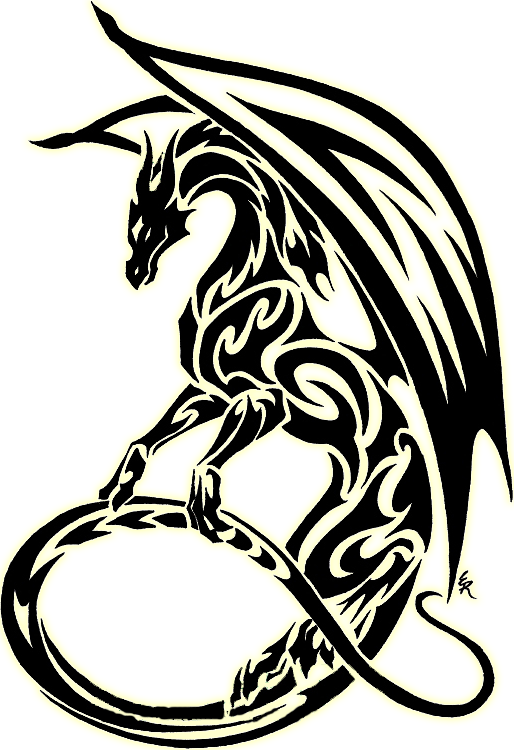 image transparent download Tribal clipart. Dragon best symbol pinterest