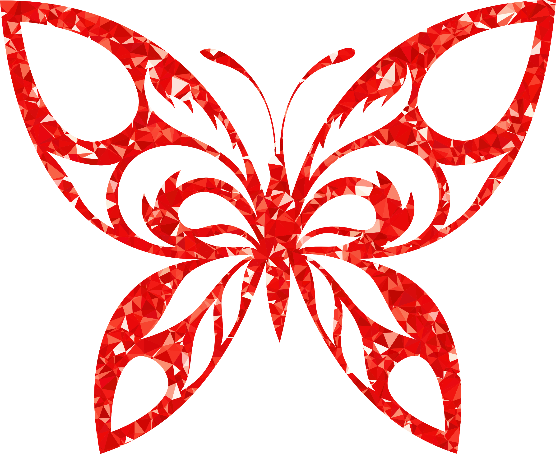 vector freeuse Ruby butterfly silhouette big. Tribal clipart