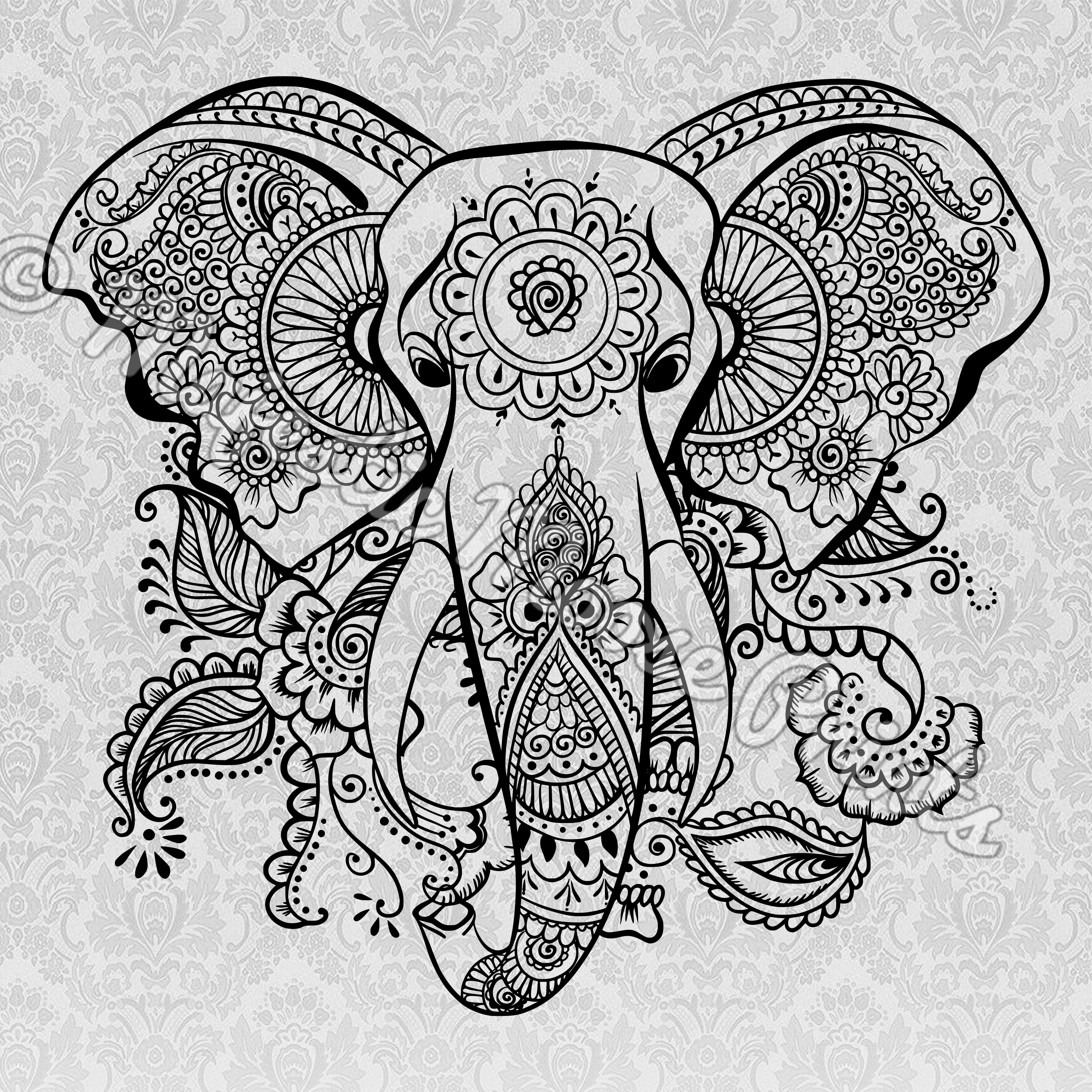 clip art royalty free download Majestic moose elephant svg. Drawing prints tribal