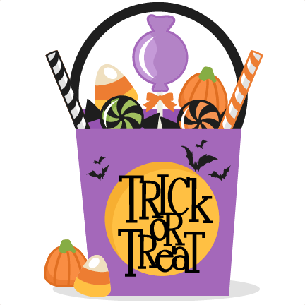 graphic freeuse library Post clipart svg. Trick or treat clip