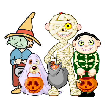 clip art freeuse Trick or treat clipart. October x dumielauxepices net